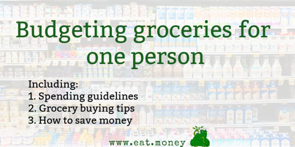 budgeting groceries for one person